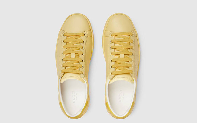 Gucci ace dames sneakers geel