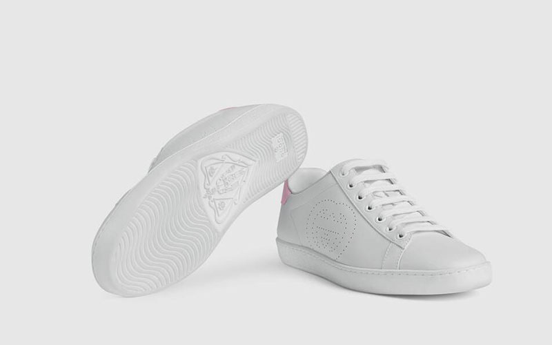 Gucci ace dames sneakers wit/roze