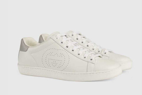 Gucci ace dames sneakers wit/zilver