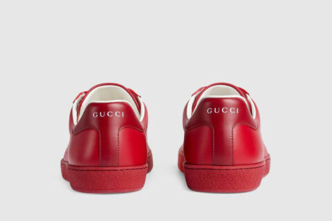 Gucci ace interlocking g heren sneakers rood