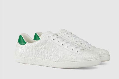 Gucci ace heren sneakers wit/groen