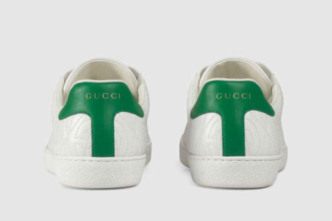 Gucci ace heren sneakers wit/groen