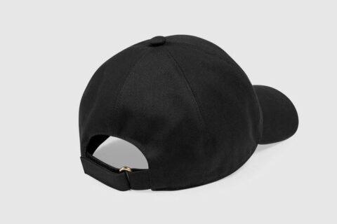 Gucci label honkbalpet zwart