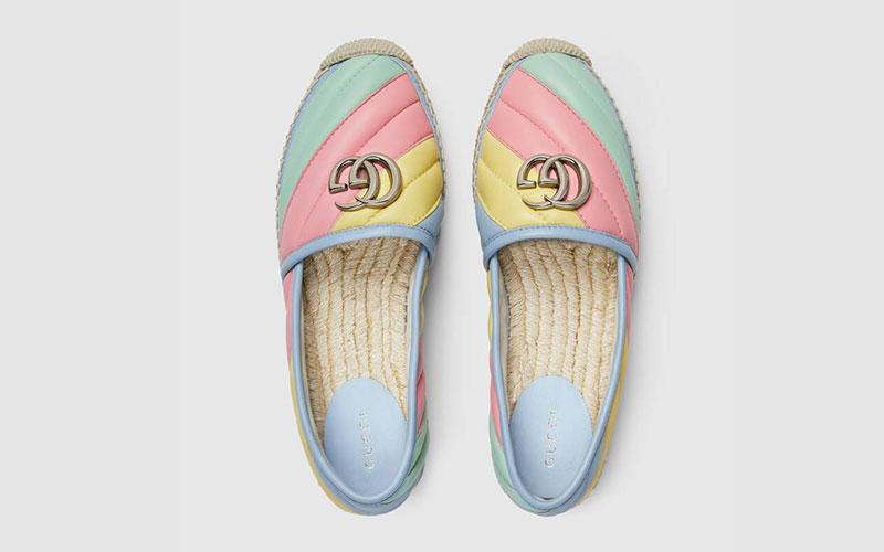 Gucci matelassé espadrille dames instappers multicolor