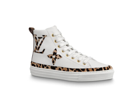 Louis Vuitton stellar dames sneakers wit/bruin - 01
