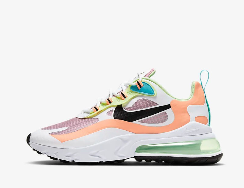 Nike air max 270 react se dames sneakers lente wit/oranje