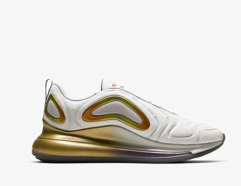 Nike air max 720 heren sneakers wit/goud