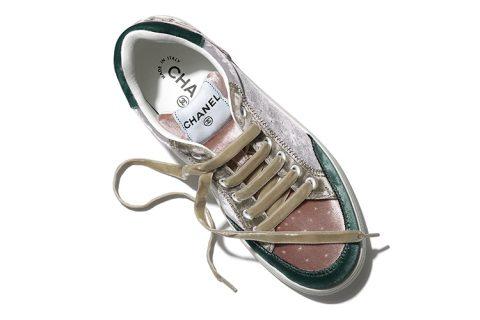 Chanel fluweel dames sneakers grijs
