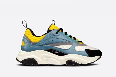 Christian Dior b22 sneakers blauw/geel