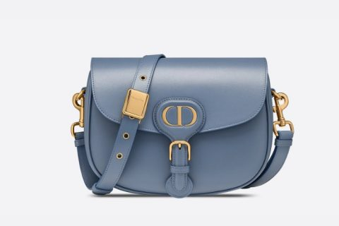 Christian Dior medium bobby schoudertas blauw