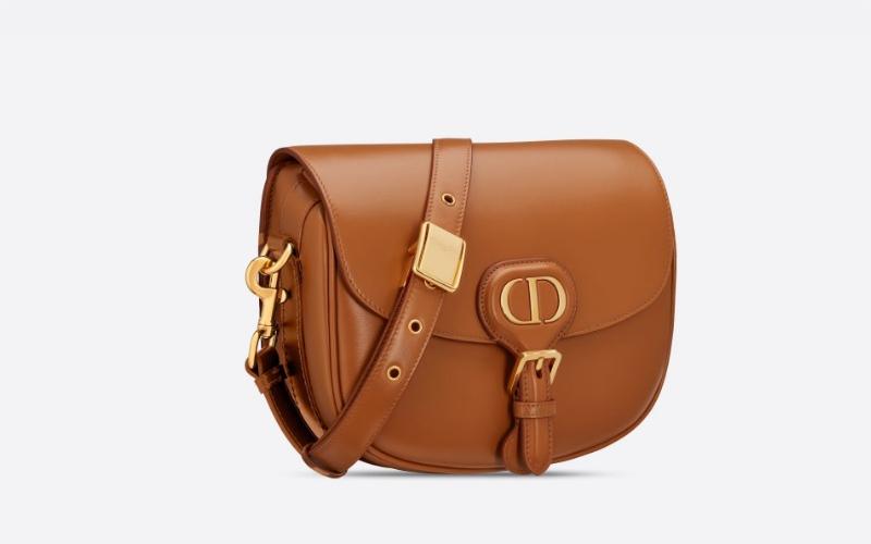 Christian Dior medium bobby schoudertas bruin