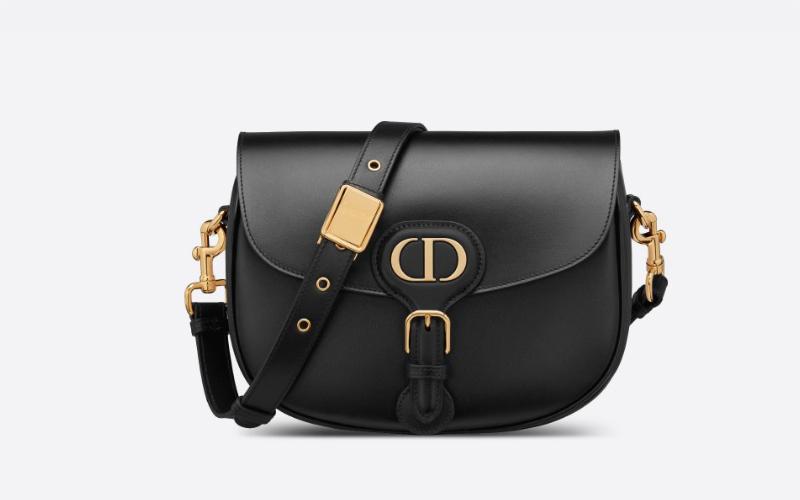 Christian Dior medium bobby schoudertas zwart