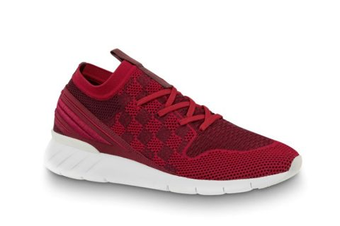 Louis Vuitton fastlane heren sneakers rood/wit
