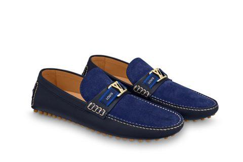 Louis Vuitton hockenheim heren instappers blauw - 01