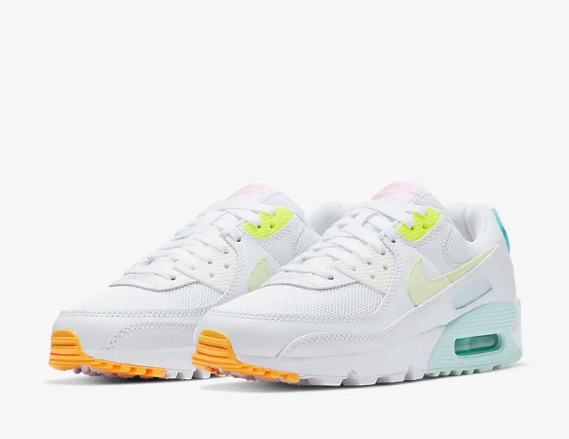 Nike air max 90 dames sneakers wit/groen