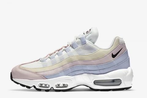 Nike air max 95 premium dames sneakers wit/lila