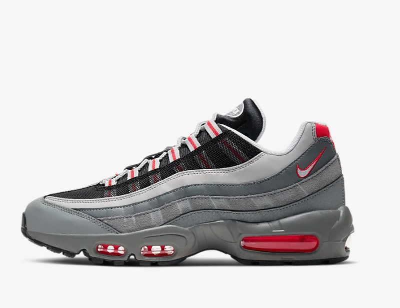 Nike air max 95 essential heren sneakers grijs/zwart