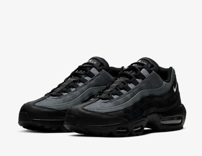 Nike air max 95 essential heren sneakers zwart/grijs