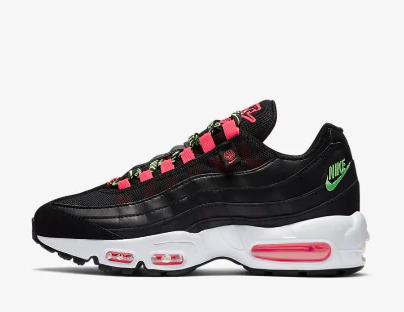 Nike air max 95 se dames sneakers zwart/wit