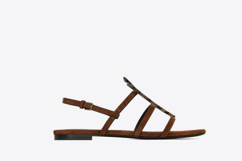 Yves Saint Laurent cassandra dames sandalen bruin