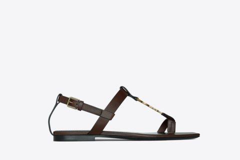 Yves Saint Laurent cassandra dames sandalen donkerbruin