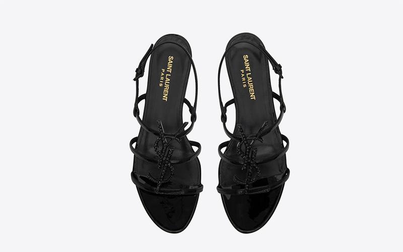 Yves Saint Laurent cassandra crystal dames sandalen zwart