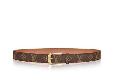 Louis Vuitton ellipse monogram riem 30mm bruin/goud