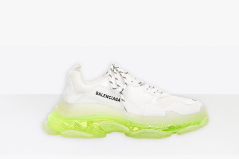 Balenciaga triple s clear sole sneakers wit/geel