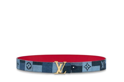 Louis Vuitton iconic 30mm riem blauw/rood
