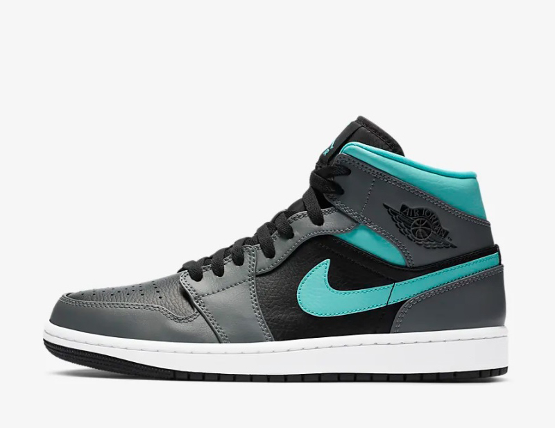 Nike air jordan 1 mid sneakers grijs