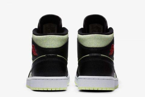 Nike air jordan 1 mid sneakers zwart/groen