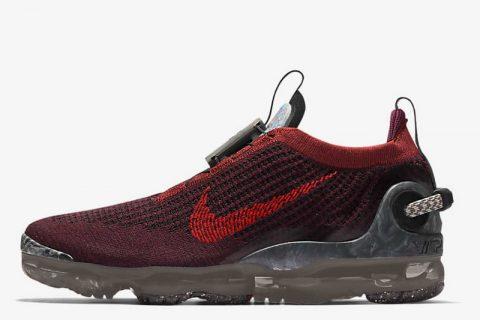 Nike air vapormax 2020 FK sneakers donkerrood