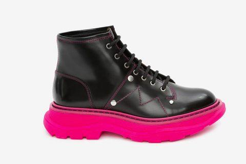 Alexander McQueen tread dames laarzen zwart/paars