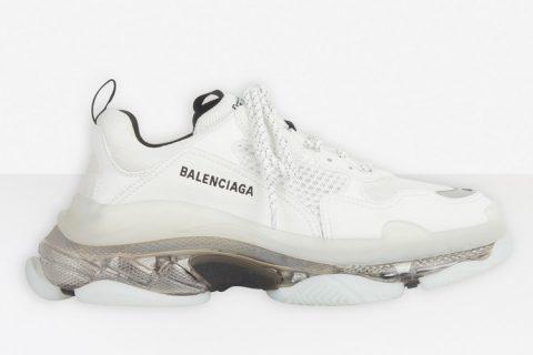 Balenciaga triple s clear sole heren sneakers wit/zwart