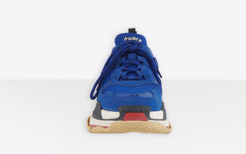 Balenciaga triple s heren sneakers donkerblauw