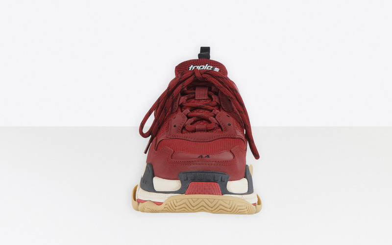 Balenciaga triple s heren sneakers donkerrood