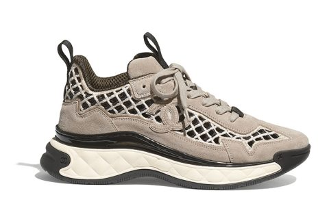 Chanel lage dames sneakers beige