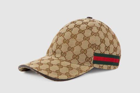 Gucci gg canvas honkbalpet beige