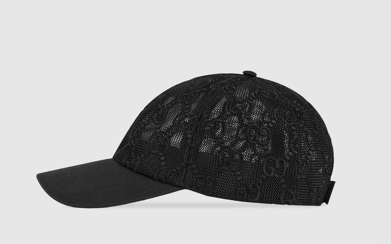 Gucci gg embroidered honkbalpet zwart