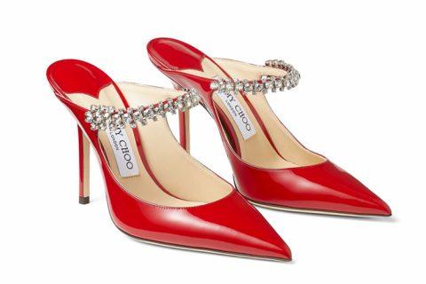 Jimmy Choo bing 100 dames pumps rood