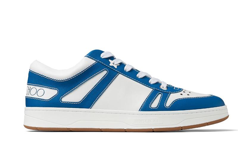Jimmy Choo hawaii/m heren sneakers wit/blauw