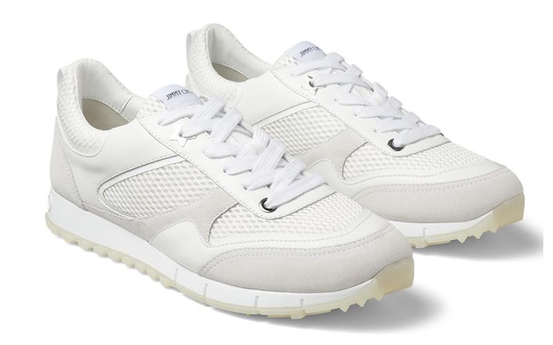 Jimmy Choo java/m heren sneakers wit