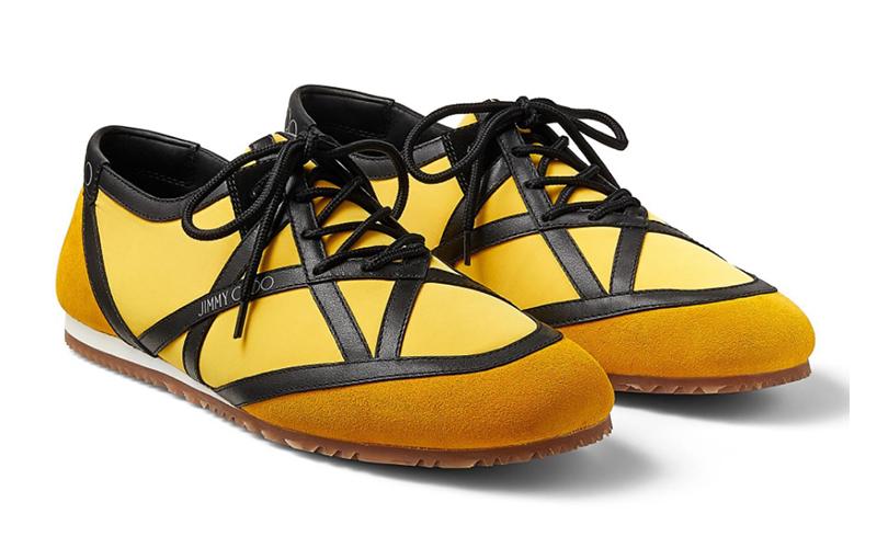 Jimmy Choo kato/m heren sneakers geel