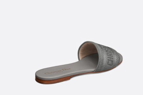 Christian Dior dway dames slippers zilver