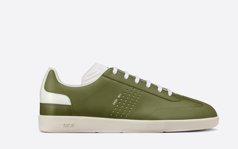 Christian Dior b01 heren lage sneakers groen
