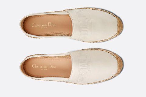 Christian Dior granville espadrille dames instappers wit
