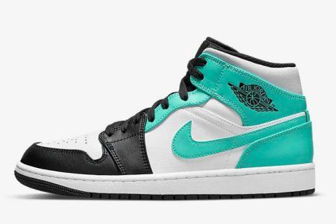 Nike air jordan 1 mid sneakers wit/groen