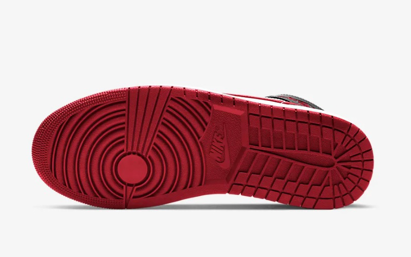 Nike air jordan 1 mid sneakers zwart/donkerrood