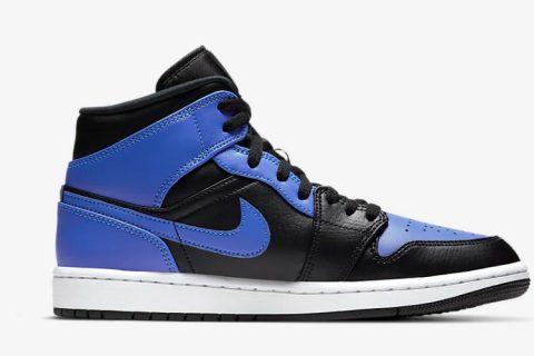 Nike air jordan 1 mid sneakers zwart/paars