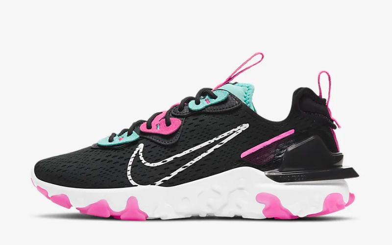 Nike react vision dames sneakers zwart/paars - 01